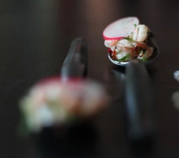 Dilled Shrimps with Radishes, Chili and Lemon