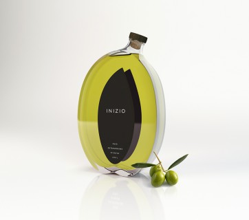 Olive Shaped Olive Oil Bottle