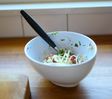 Green Papaya Salad with Garlic and Lime