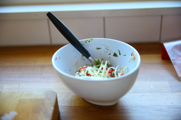 Green Papaya Salad with Garlic and Lime