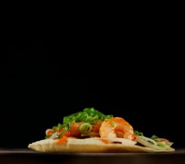 Shrimp and Papaya Taco