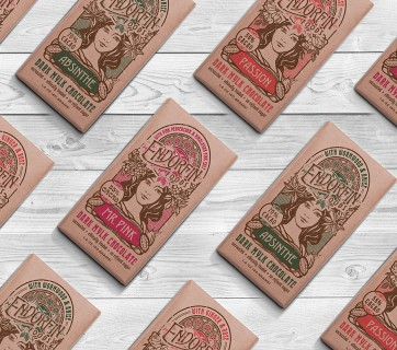 Art Nouveau Chocolate Packaging for Endorfin Foods