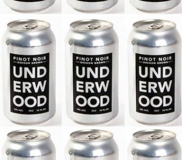 Canned wine packaging