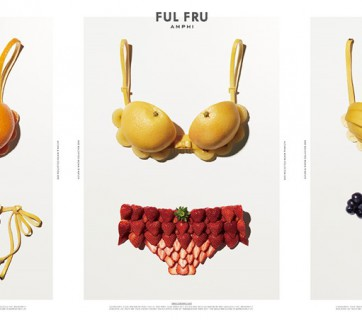 Fruit swimwear ads
