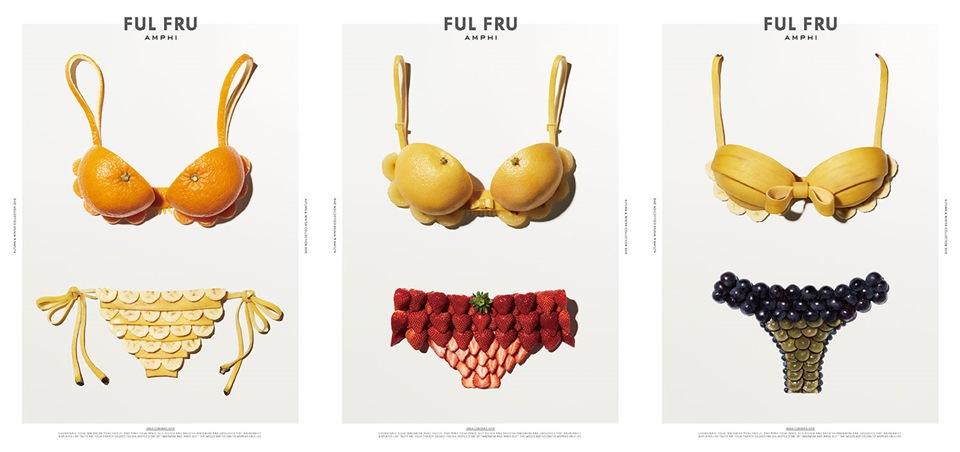 Fruit swimwear ads