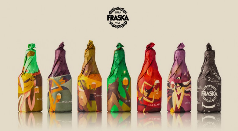Beautiful Paper Wrapped Beer Packaging