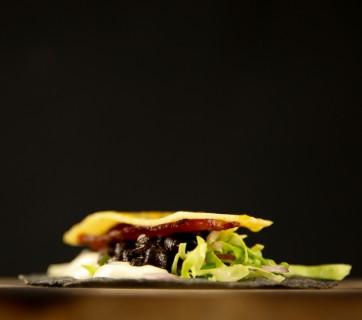 Pork Pineapple Taco with Black Beans & Jalapeno