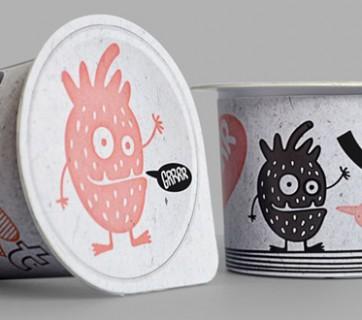 YOgurt Ugly Monsters Packaging Design