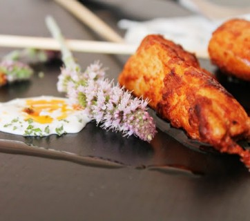 Chicken Skewers with Smoked Paprika and Mint Yogurt