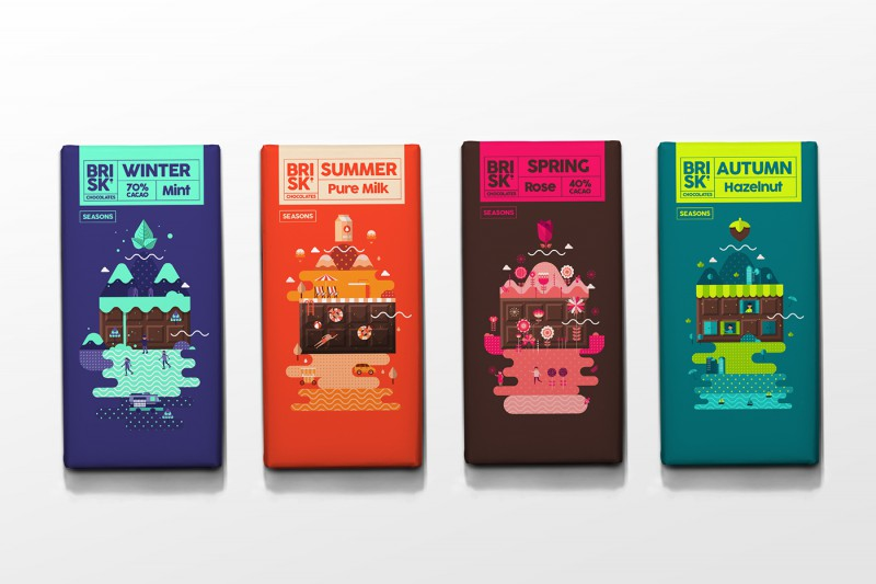BRISK Chocolate Packaging is designed for all seasons ...