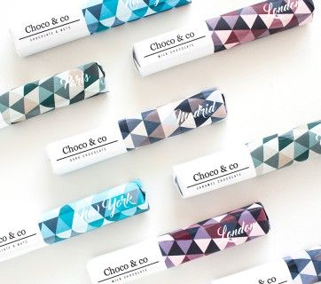 City Inspired Chocolate Packaging for Choco & Co