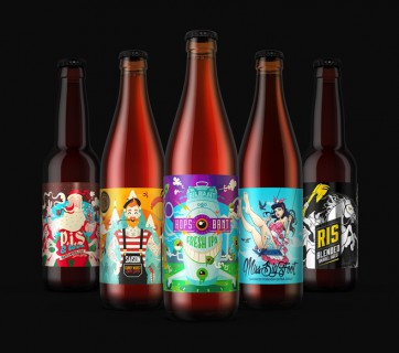 Cool Limited Edition Beer Labels for Birbant Brewery