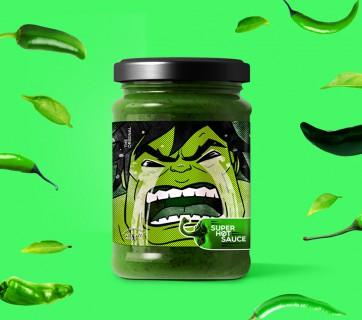 Superhero Hot Sauce Packaging - Make Your Hero Cry
