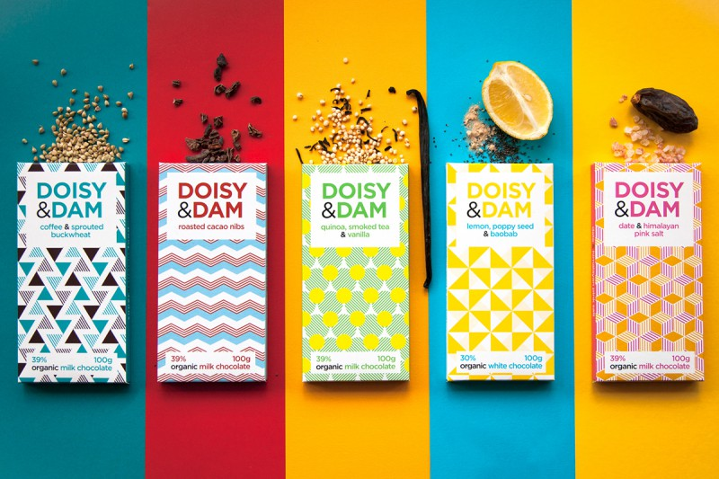Vintage Patterns Makes Doisy & Dam Chocolate Packaging Look Great