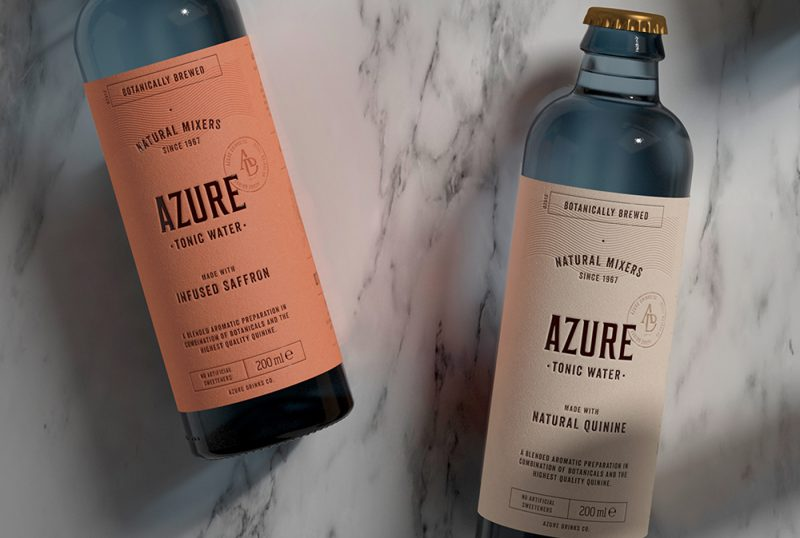 Azure Tonic Water Packaging Design
