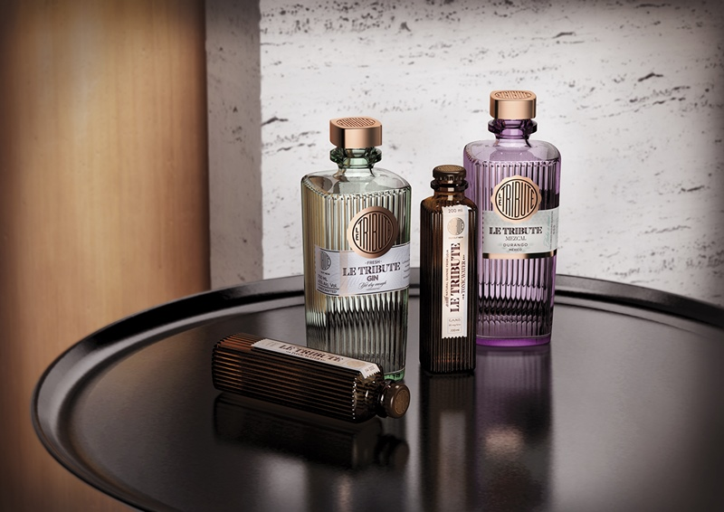 Le Tribute Gin and Tonic Packaging