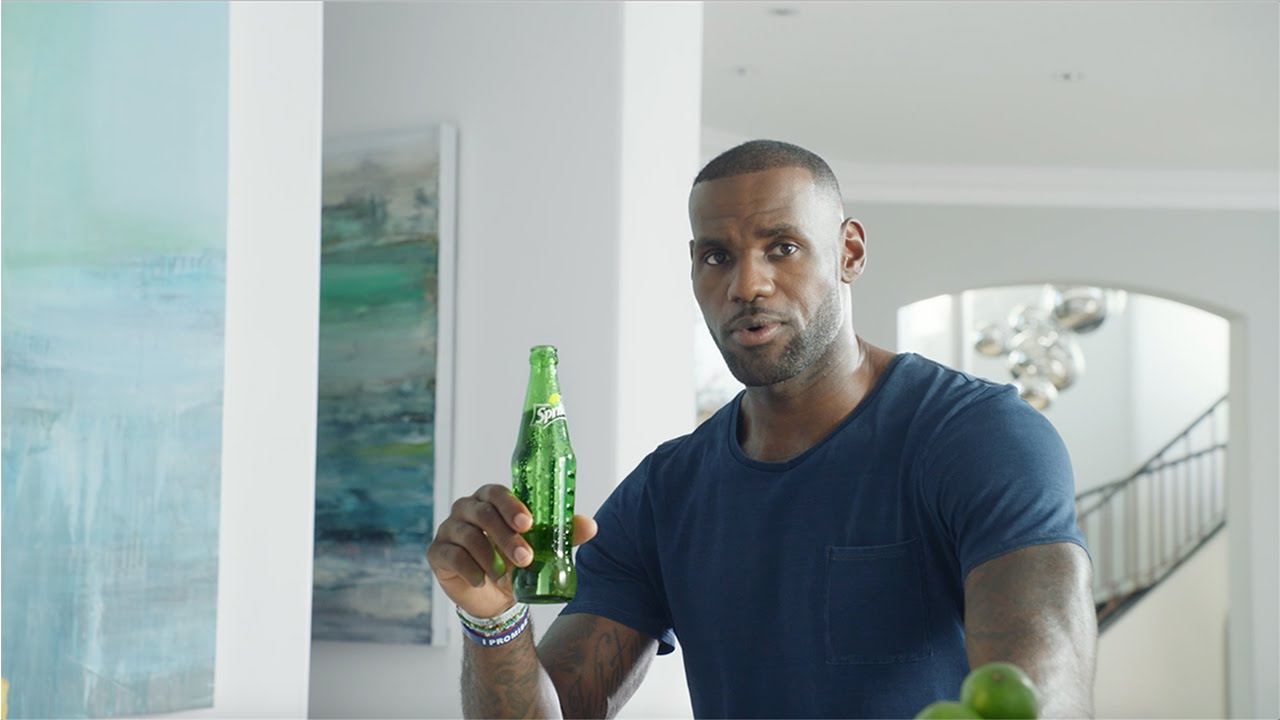 lebron james will never tell you to drink sprite