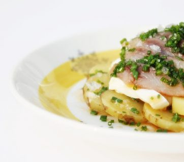 Soused Herring Browned Butter with Chives and Eggs