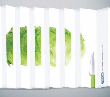 Clever Foldout Print Ads for Tramontina Knives