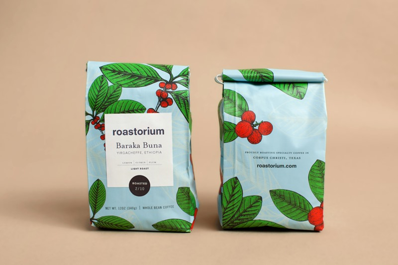 Great Colorful Coffee Packaging for Roastorium Coffee