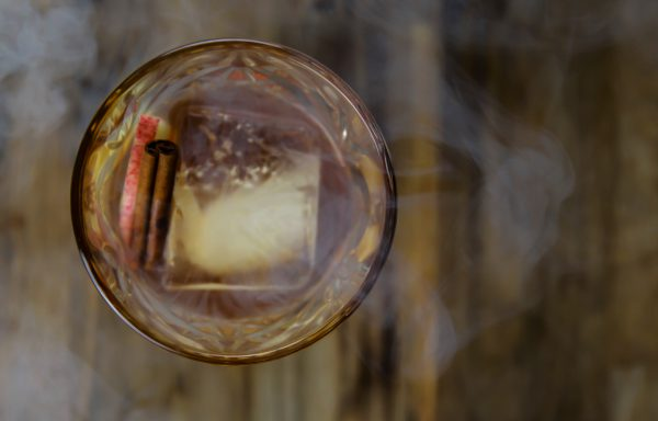 Smoked Old Fashioned With Apple And Cinnamon - 10+ Bourbon Cocktails for Any Occasion