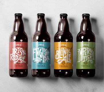Beautiful Flag Beer Labels for Tavola Beer - Beer Packaging at Ateriet.com