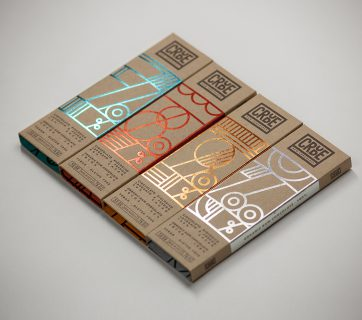 Crude Raw Chocolate Packaging - Cardboard & Luxurious Foil