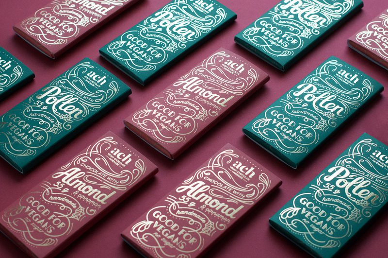 Vegan Chocolate Packaging for ACH Chocolate