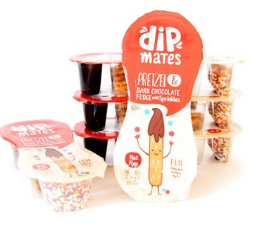 Pretzel Dip With Caramel and Sprinkles for Dipmates