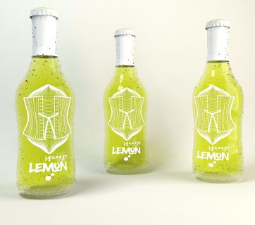 Squeeze Lemon is a lemonade brand in a great packaging, with a fun design they squeezes lemons in a different way.