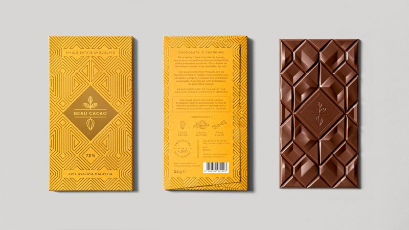 Elegant Chocolate Packaging Design for Beau Cacao from London