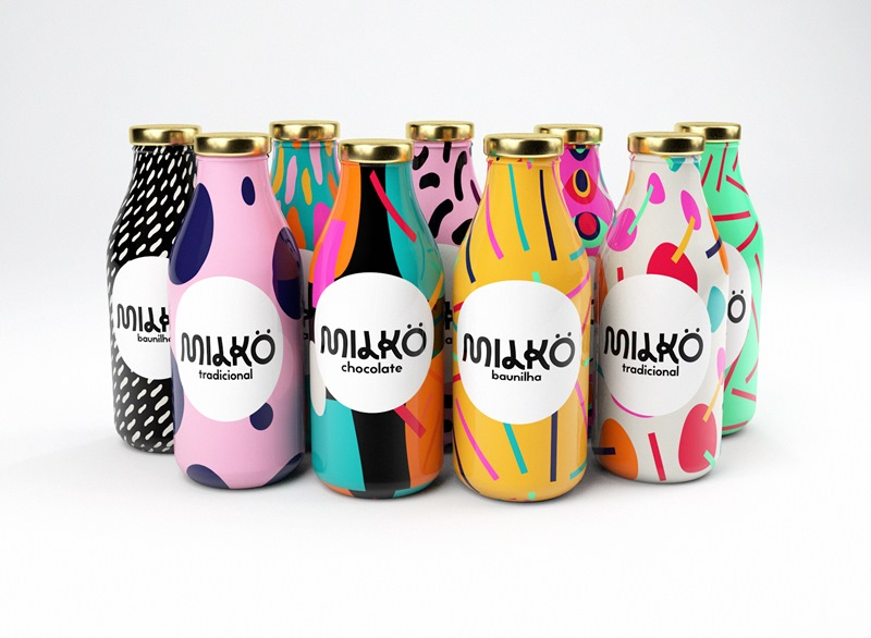 take a look at this colorful milk packaging design aterietateriet