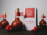 This Bottled Hot Sauce Packaging for Rubedo Hot Sauce Looks Amazing
