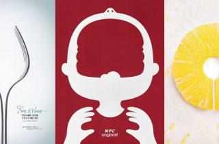 20 Negative Space Food Ads - Great Creative Print Ads