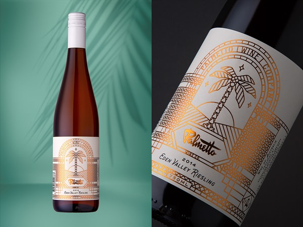 Art Deco Wine Packaging For Palmetto Wine