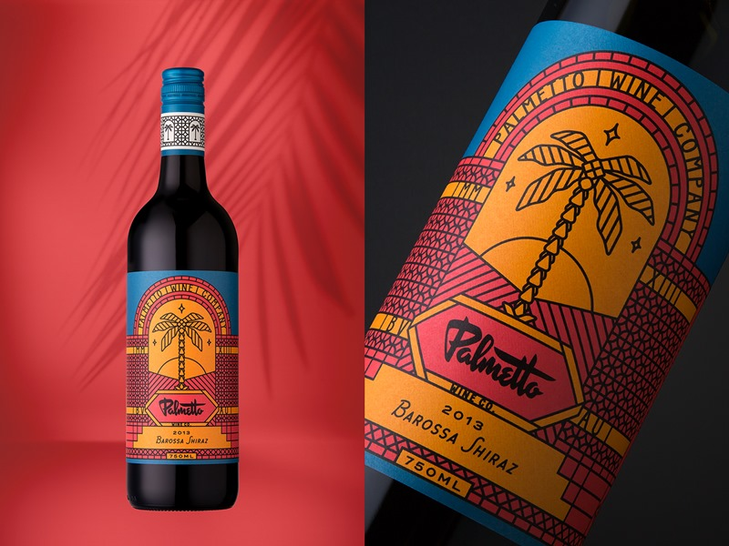 Art deco wine packaging for palmetto wine aterietateriet for Cuisine art deco