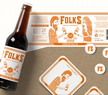Folks Craft Brewery Beer Packaging Design