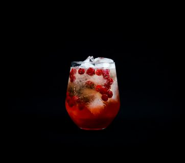 Red Currant Champagne Cobbler - A Great Red Currant Cocktail