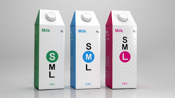 This Braille Milk Packaging Makes Everyone Feel What Type of Milk It Is
