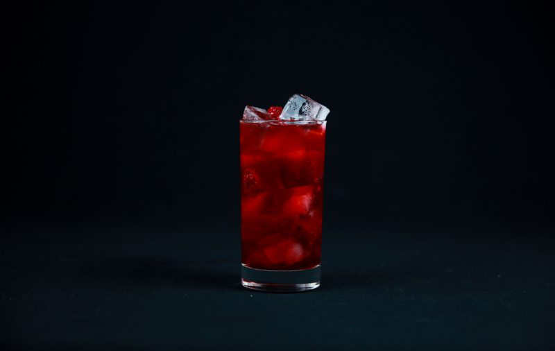 Vodka Raspberry Cocktail With Intense Color and Great Flavor