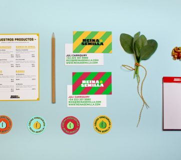 Amazing Vegetarian Packaging and Branding for Reina Semilla