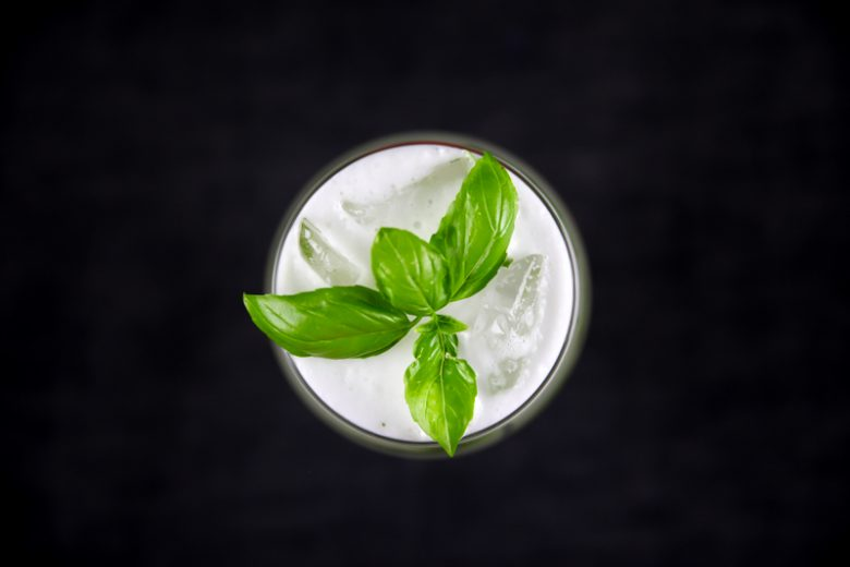 Basil Lemon Cobbler With Gin and Basil Simple Syrup