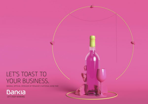 Clever Bank Ad Campaign With Perfectly Balanced Wine