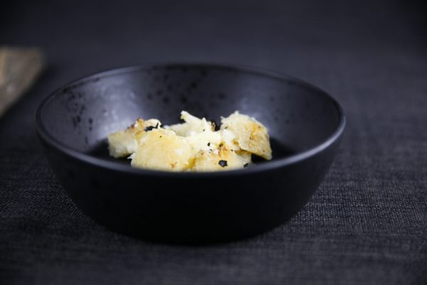 Whole Fire Grilled Celeriac with Truffle Butter and Salt