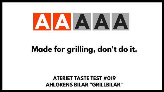 Ahlgrens Bilar Taste Test - The Grilled Version of 2017