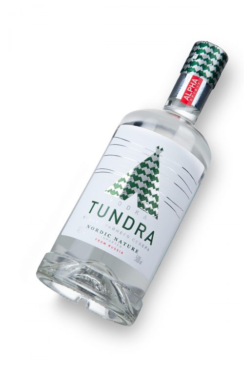 Russian Vodka Packaging Design for Tundra Vodka and Bitters