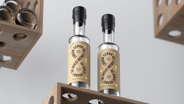 Clean Oil Packaging Design With Clever Typography for Lonson Oil