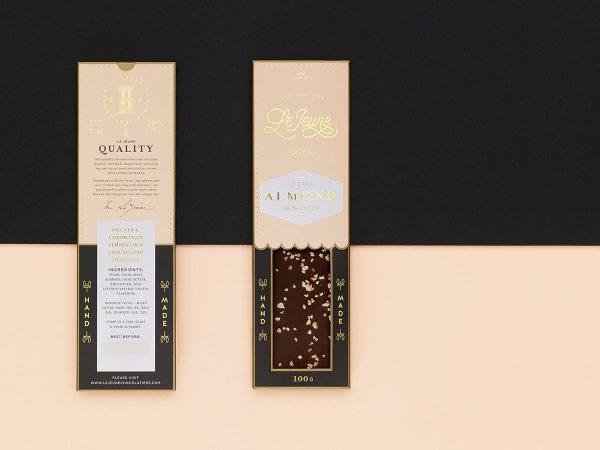 Golden Chocolate Packaging for Le Jeune Artisan Chocolatiers