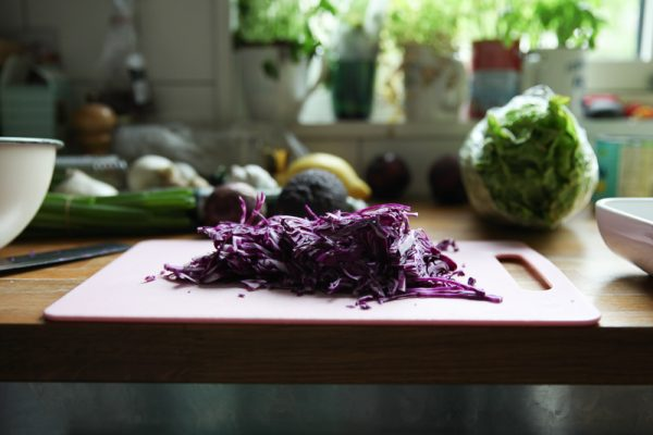 Red Cabbage Coleslaw with Lime and Black Pepper