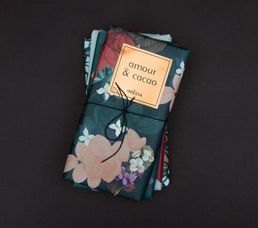 Flower Inspired Chocolate Packaging for Amour & Cacao